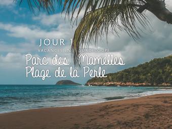 Guadeloupe, Parc des Mamelles et plage de la Perle