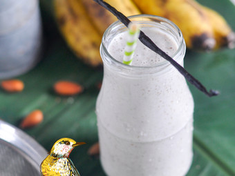 Smoothie banane amande