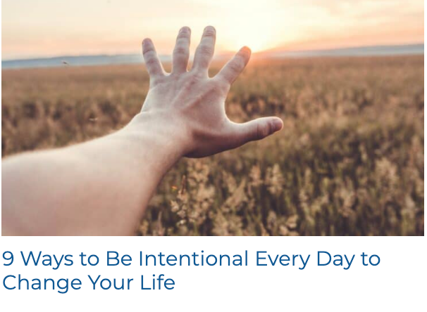 How To Be Intentional Every Day