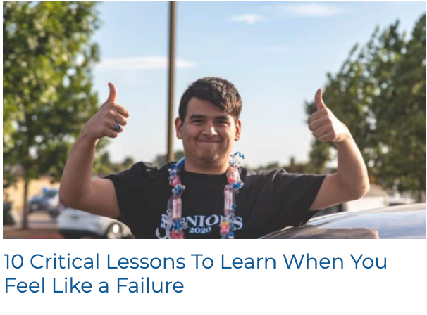 Lessons for When You Feel Like a Failure