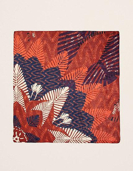 Foulard carré maxi brique