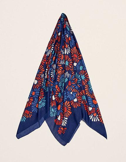 Foulard carré maxi bleu nuit