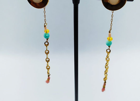 Boucles d'oreilles Loo or