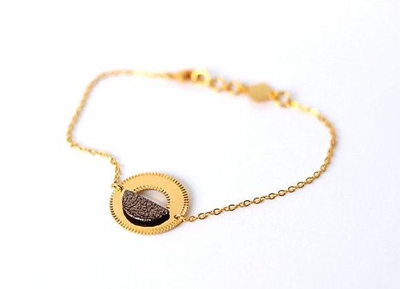 Bracelet marron métallisé