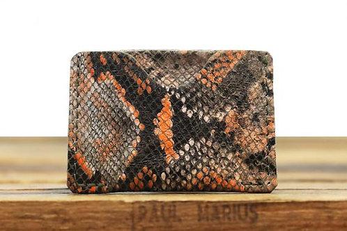 Le porte carte Gabin Python orange