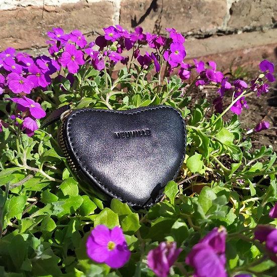 Porte monnaie coeur noir