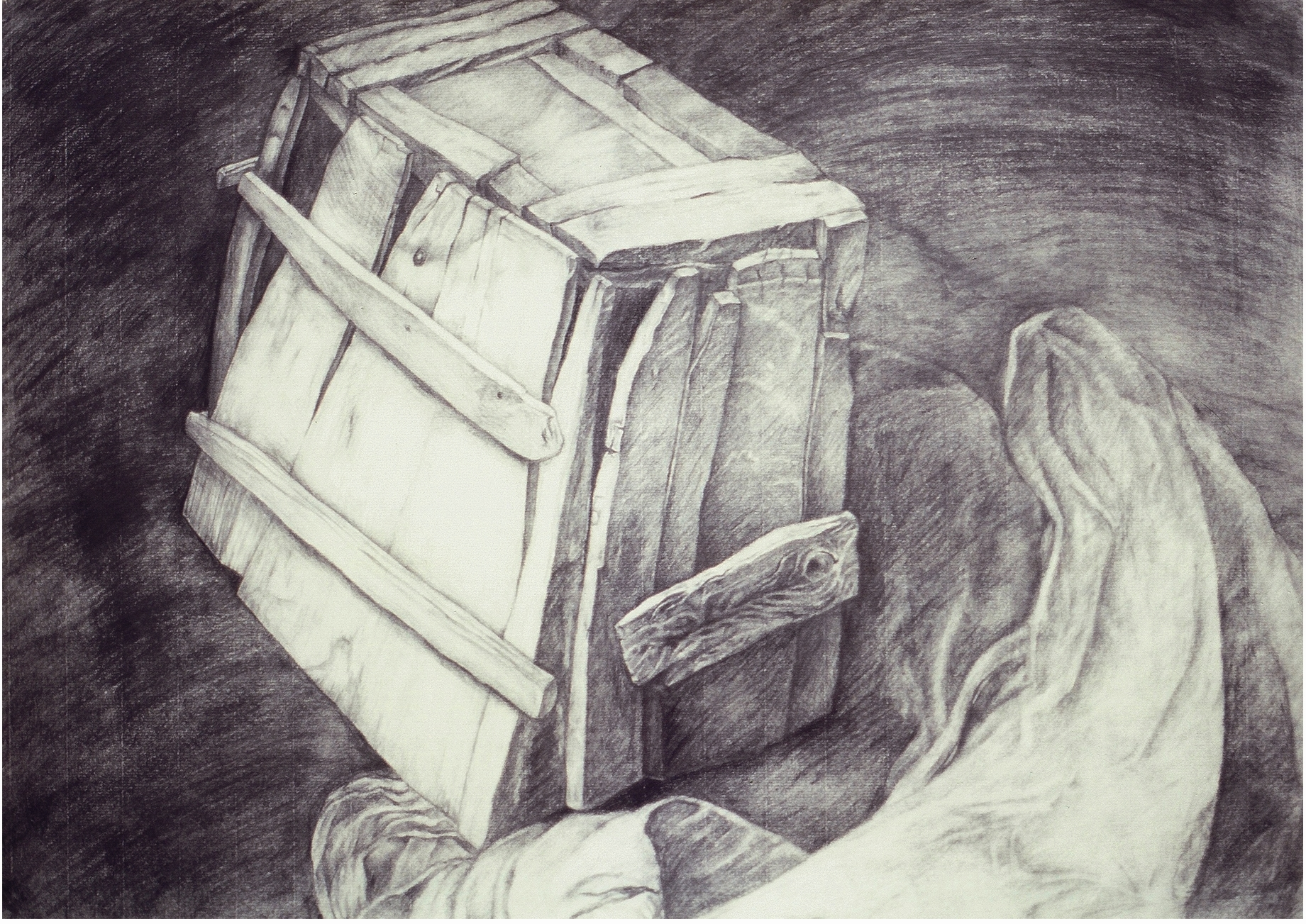 BOX IN HAND - Pencil Sketch