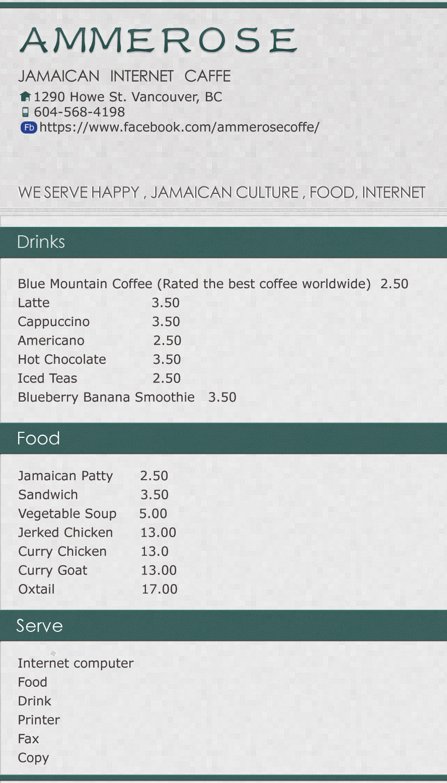Coffee Shop_Menu