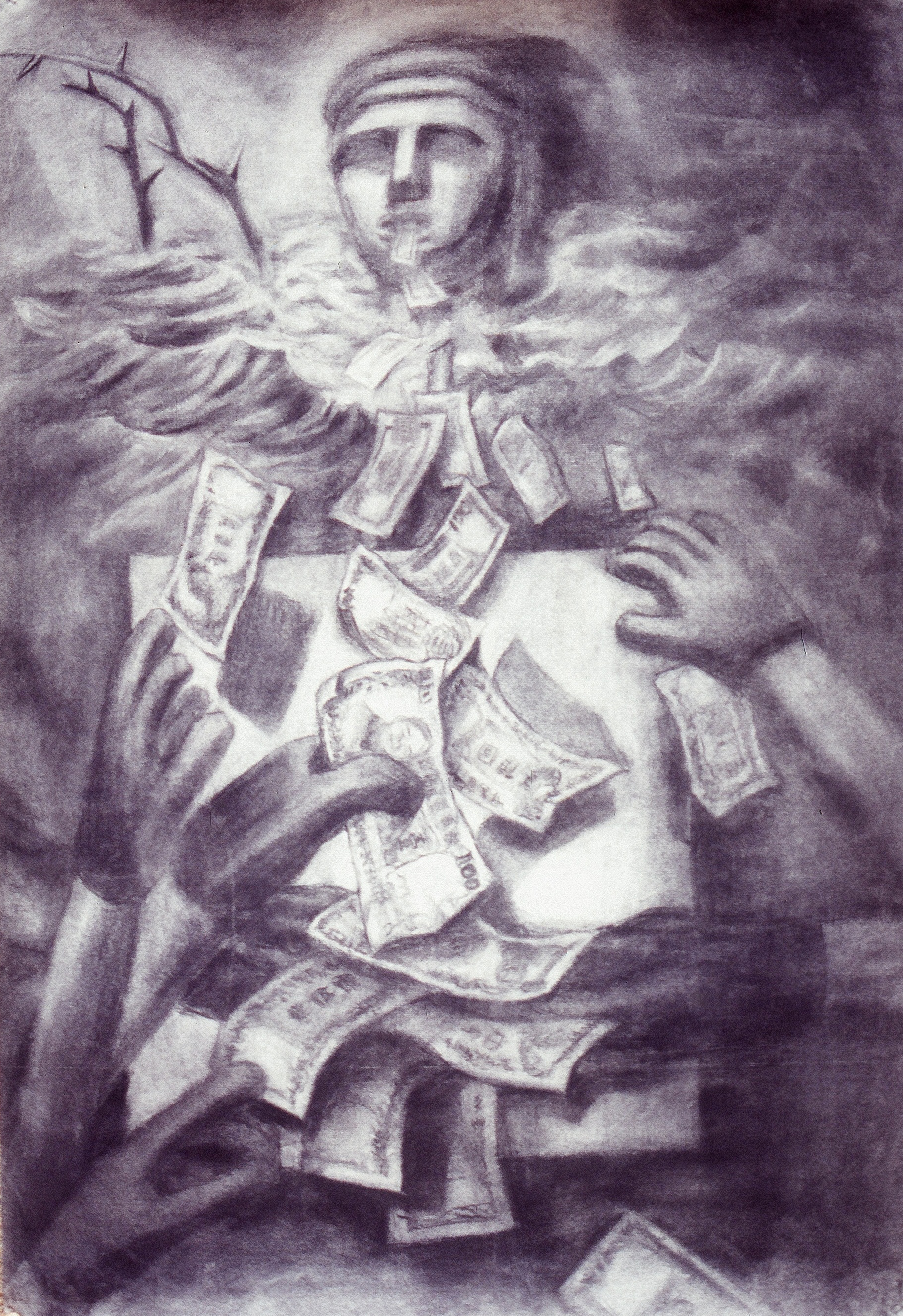 TRUE WORLD - Charcoal Sketch