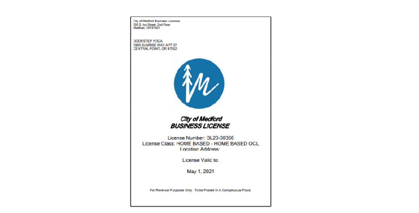 business license ocl