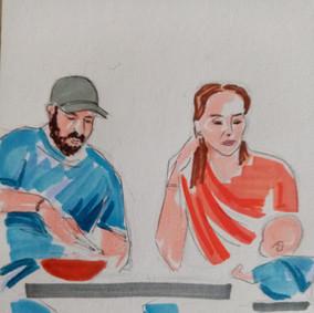 Blue family, illustration Maria Burberry