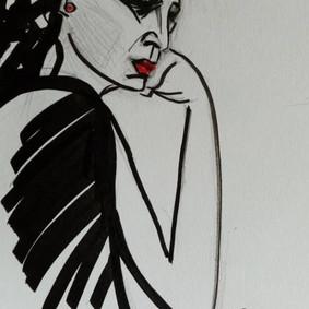 Portrait sketch, Maria Burberry