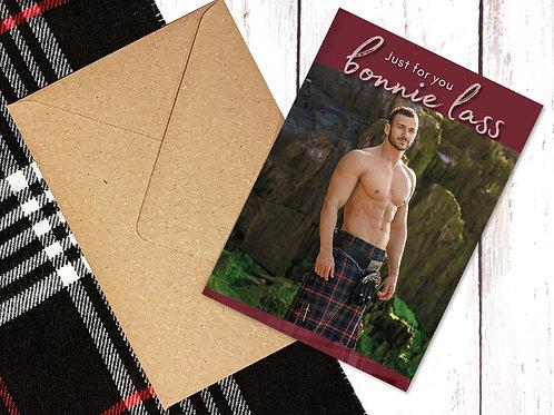 Men in Kilts Greetings Card