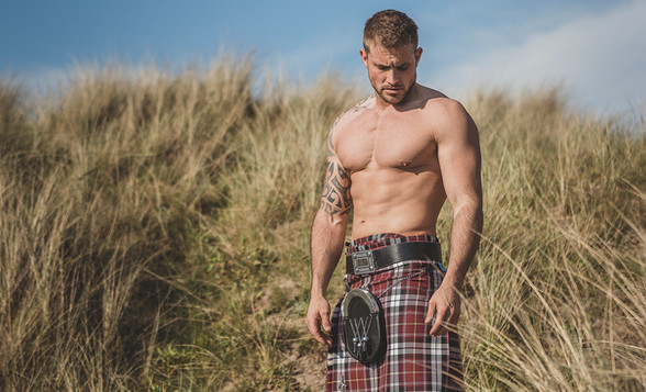 Men in Kilts Calendar Photo