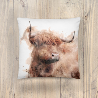 Highland Cow Pillow