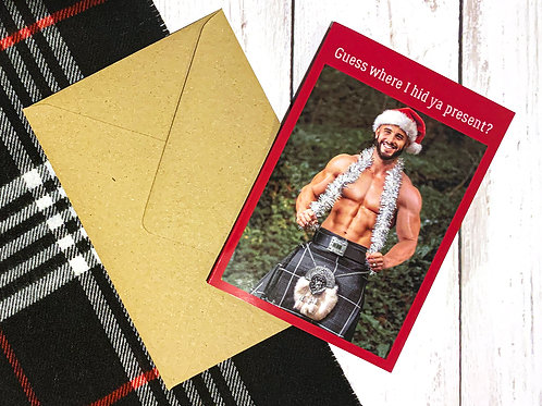 Men in Kilts Christmas Card