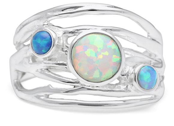 Opalite Ring in Sterling Silver