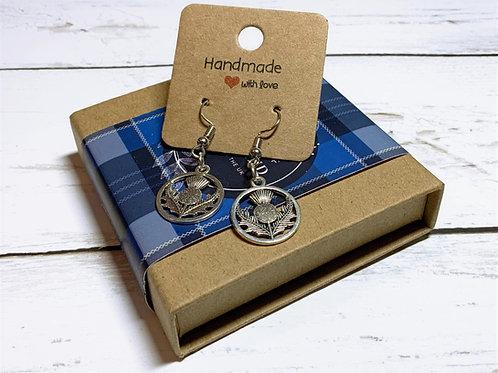 Handmade Scottish Thistle Earrings