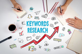 Keywords Research Business Concept. The