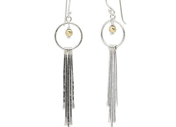 Hoop & Strands Earrings in Sterling Silver