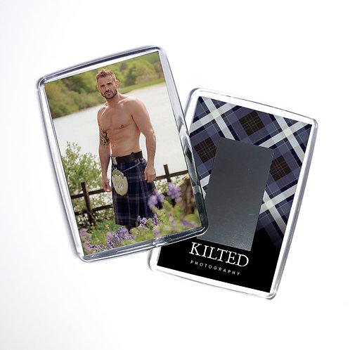 Men in Kilts Fridge Magnet (Mike)