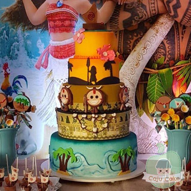 Olha que maravilhosa festa da moana! 😍