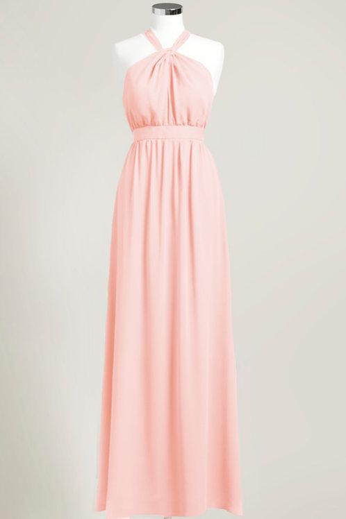 Soft pink graduation bridesmaid dress