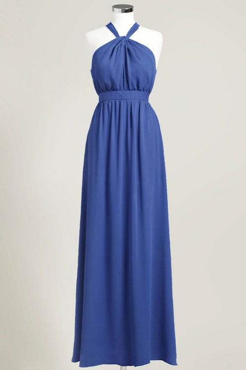 Royal blue dark blue evening gown bridesmaid dress