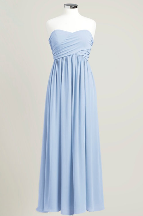 Ice blue sweetheart bridesmaid dress floor length cheap used