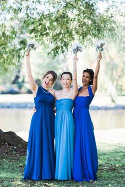 Royal blue navy blue floor length infinity dress