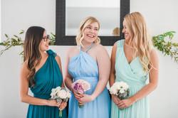 Teal blue light green chiffon bridesmaid dress floor length knee length halter one shoulder wrap