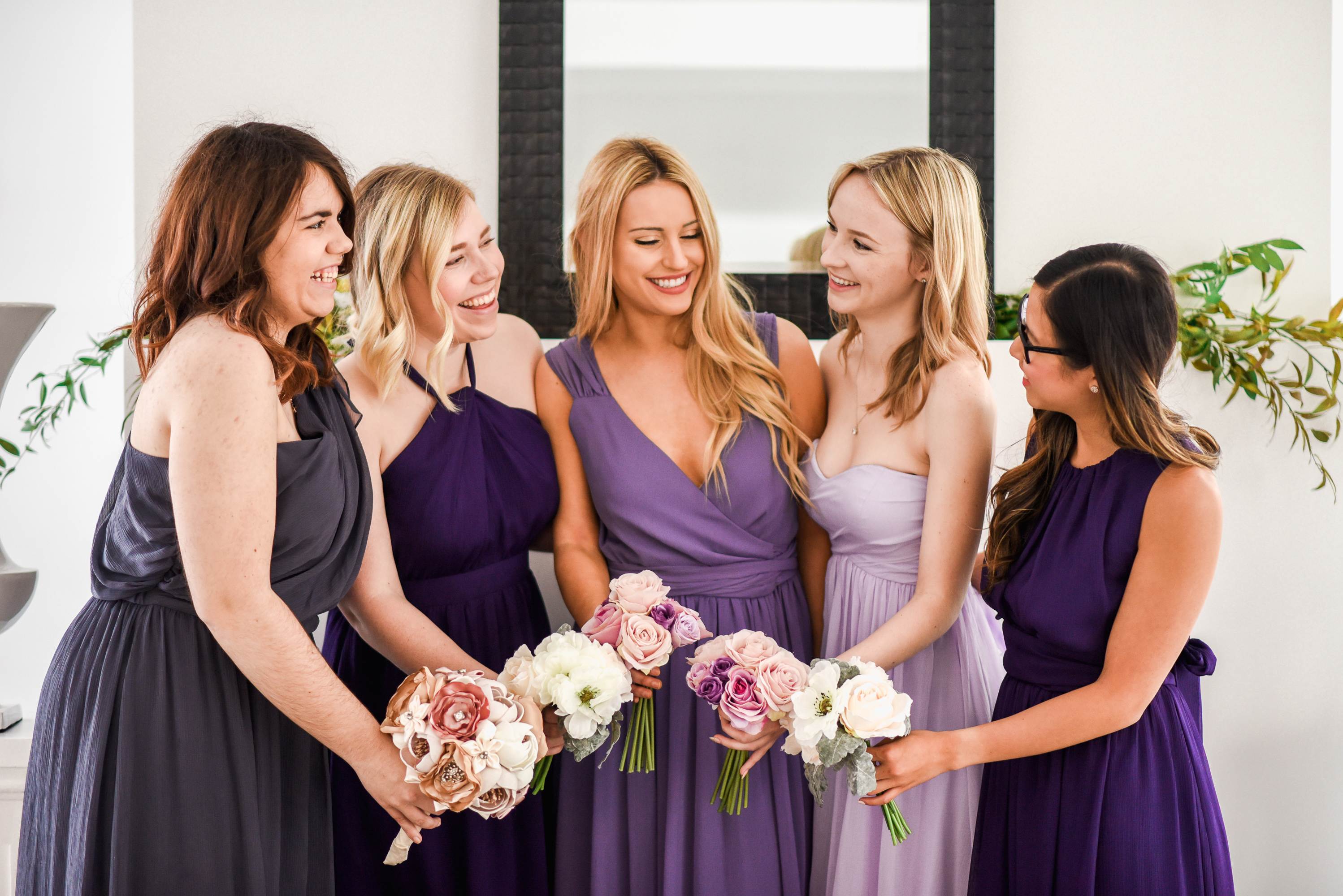 Classic chiffon used cheap bridesmaid dresses