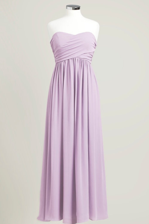 Lavender cheap sweetheart bridesmaid dress floor length used chiffon