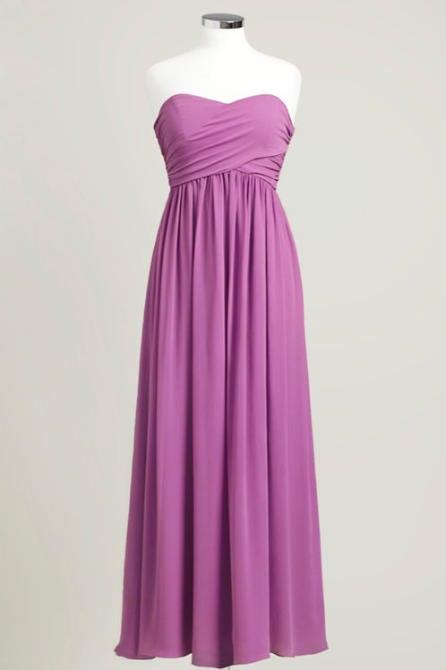 Raspberry pink bridesmaid dress sweetheart floor length used chiffon