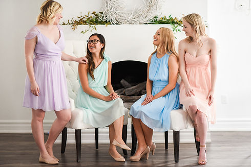 Used affordable bridesmaid dresses neutral colors