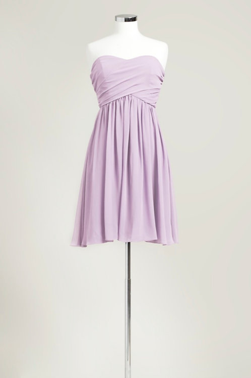 Lavender bridesmaid dress sweetheart chiffon knee length