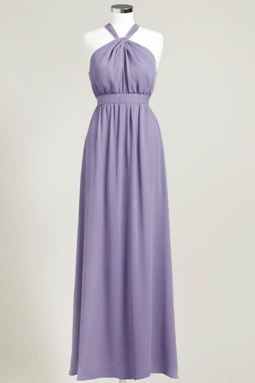 Purple halter dress floor length