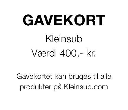 Gavekort 400