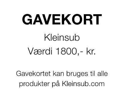 Gavekort 1800