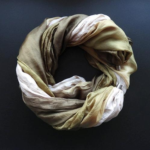 Collana di seta Verde oliva-Taupe