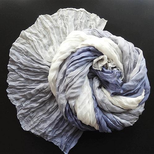 Seta-Crash Grigio blu-Grigio-Bianco