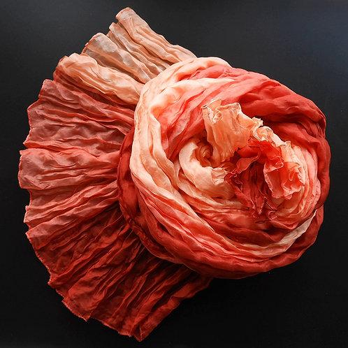Seta-Crash Rosso (ruggine)-Salmone