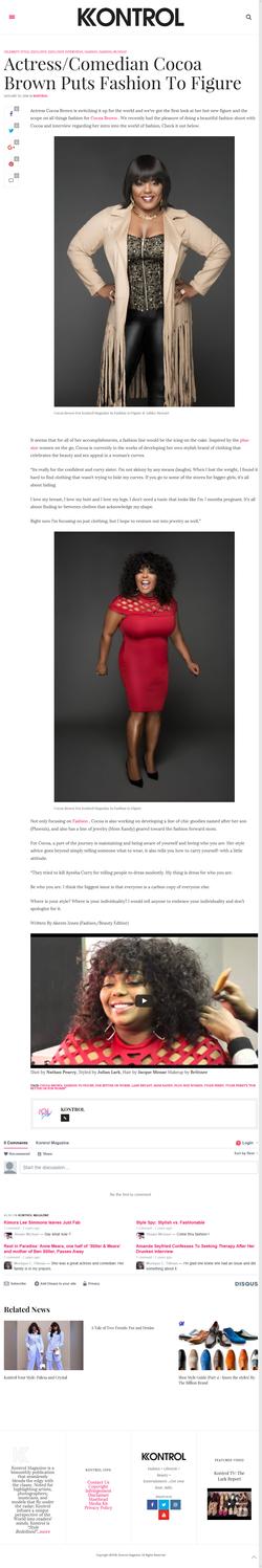 Cocoa Brown Interview Kontrol Magazine January 2016