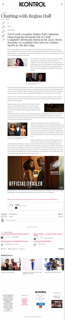 Regina Hall-When the Bough Breaks Film Interview Dec 7th 16 Kontrol Mag