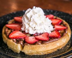 Waffle nutella y fresas