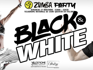 ZUMBA®PARTY BLACK AND WHITE