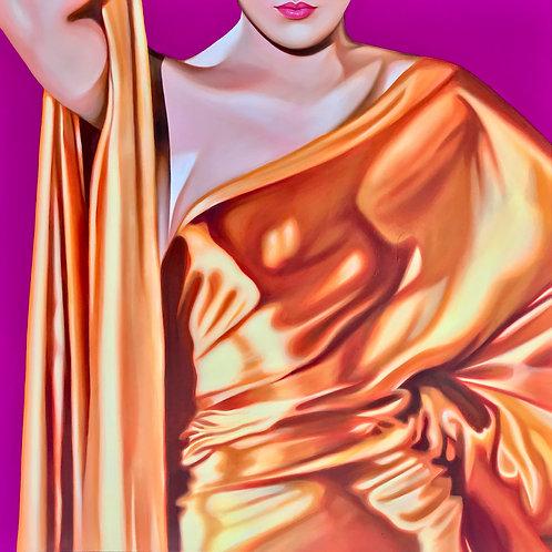 "Original Painting ""I Just Love Your Flashy Ways"" 36X36"