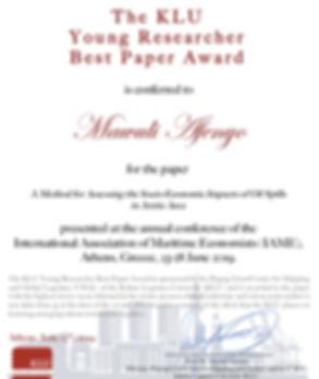 Mawuli-KLU Best Paper Prize.jpg