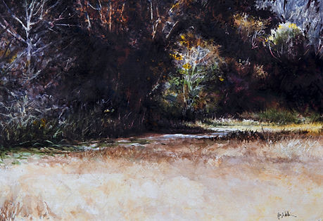 Milldale Bottoms painting by John Wilkison