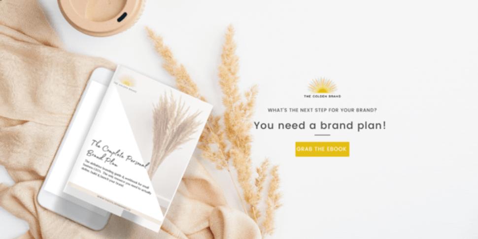 Business brand plan ebook from The Golden Brand